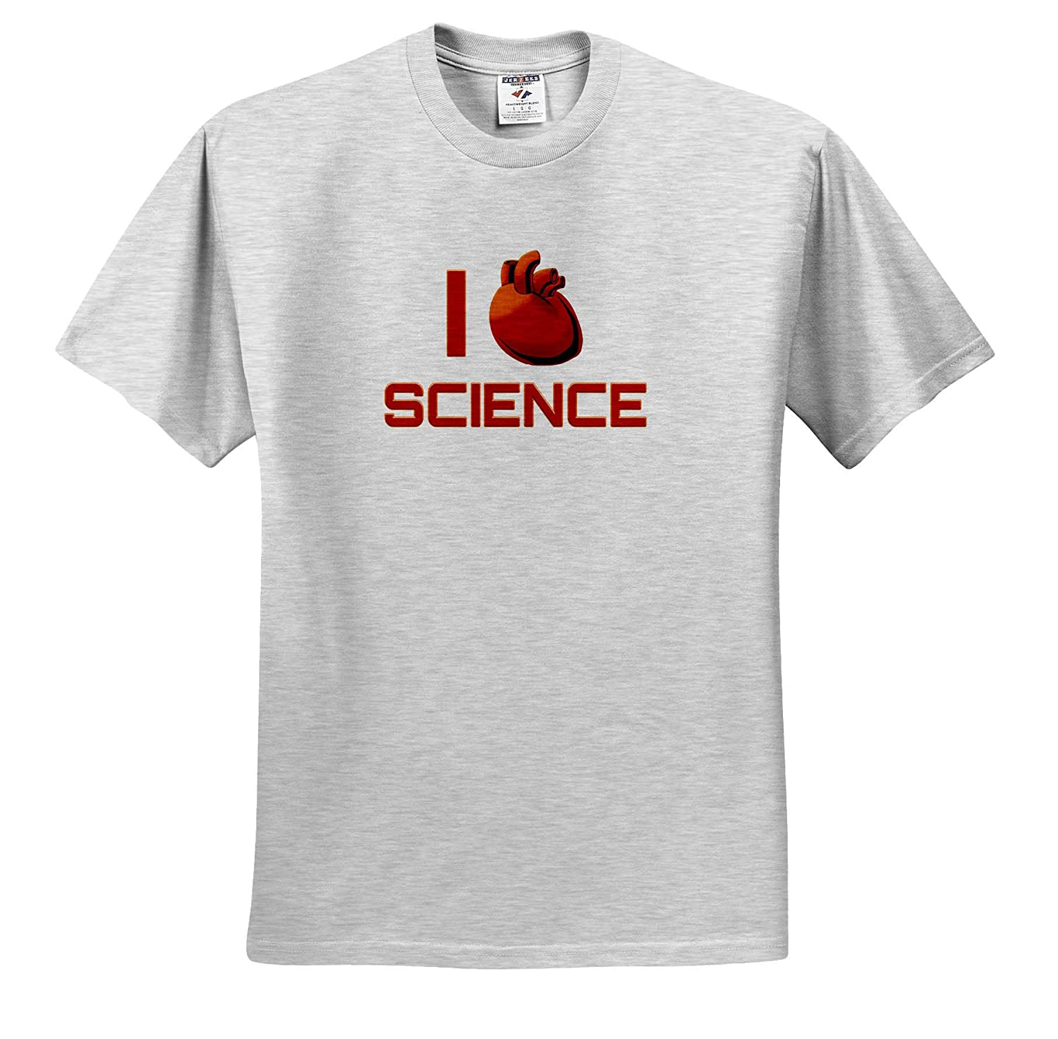 I Love Science with a Anatomical Heart for Love I Heart Science - T-Shirts Science 3dRose Macdonald Creative Studios