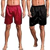 Admireme Mens Satin Boxer Shorts Pajamas Shorts Sleepwear Boxers Underwear Beach Shorts