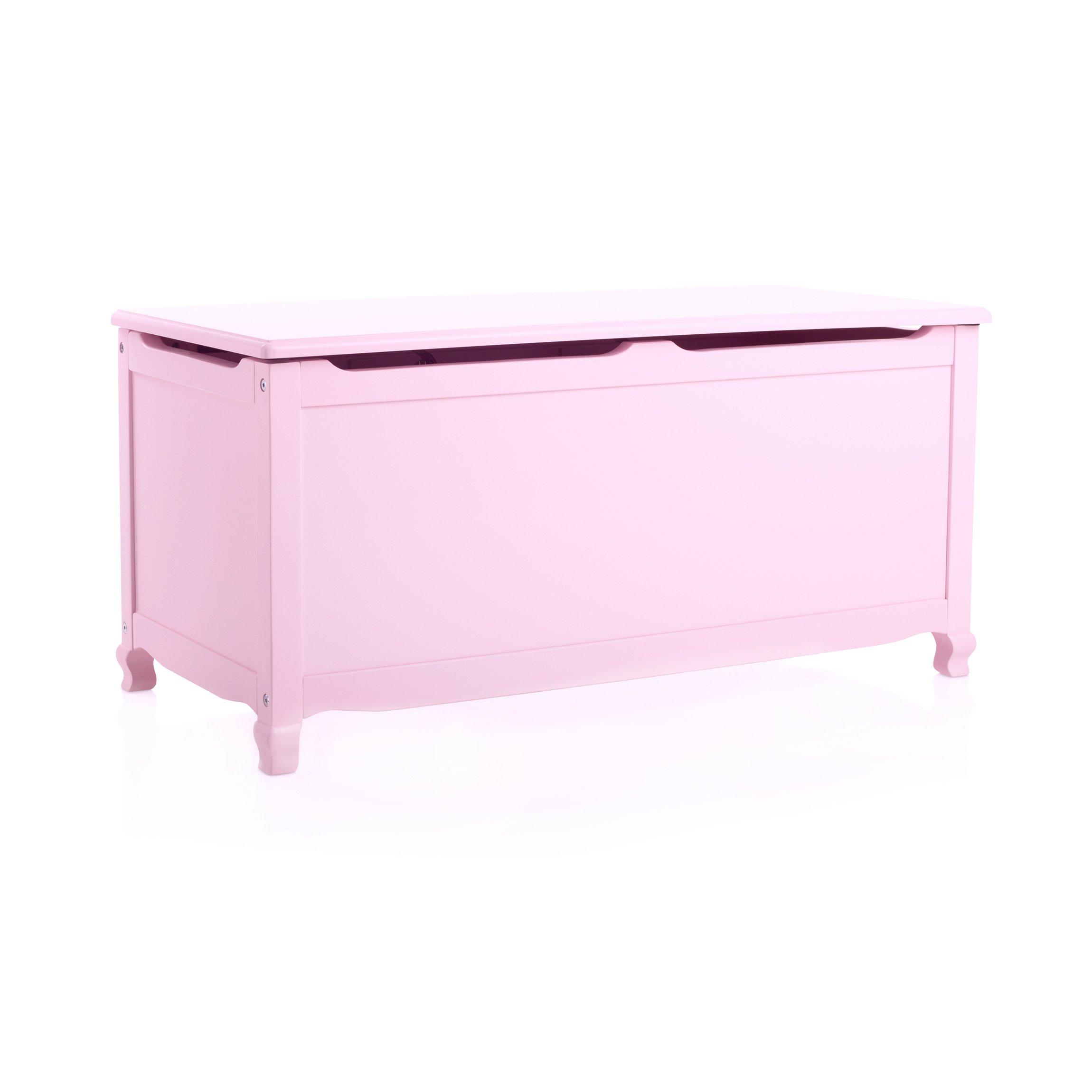 Guidecraft Manhattan Toy Box Pink- Toy Chest, Trunk, Storage Kids' Furniture by Guidecraft
