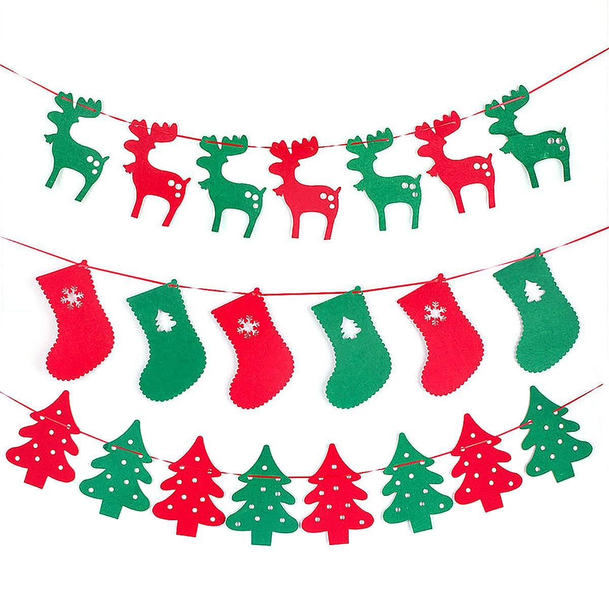 Hanging Christmas Decorations To Make.Amazon Com Christmas Hanging Flags 3pcs Christmas Hanging