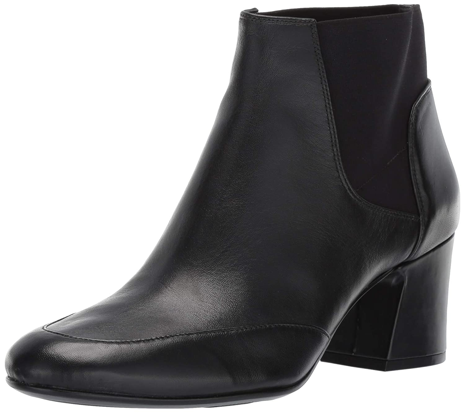 Black Leather Naturalizer Womens Danica Ankle Boot