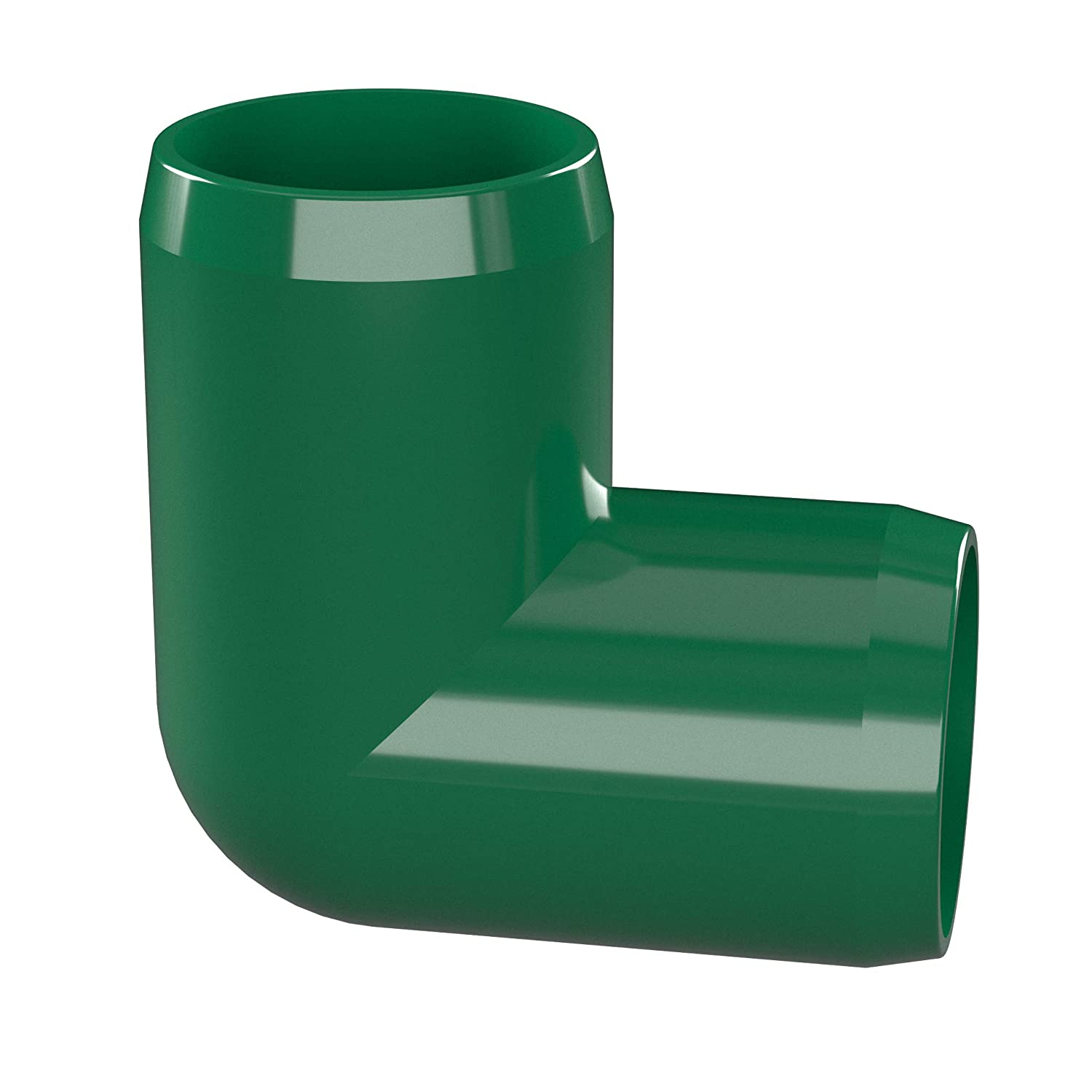 Furniture Grade Green 1 Size FORMUFIT F00190E-GR-4 90 Degree Elbow PVC Fitting Pack of 4