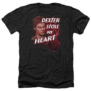 Dexter Bloody Heart Mens Heather Shirt