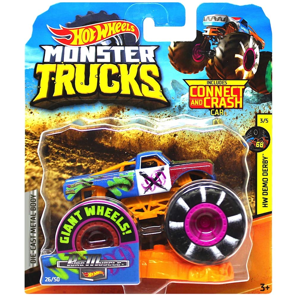 La camioneta Hot Wheels Monster incluye Connect y Crash