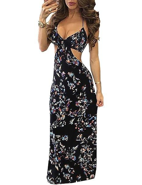 Boutiquefeel Maxi Vestido Vintage de Estilo Floral Slip Dress para Mujer: Amazon.es: Ropa y accesorios