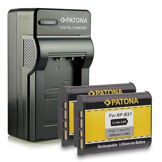 195 opinioni per Novità- 4in1 Caricabatteria + 2x Batteria come NP-BX1 NPBX1 con Infochip · 100%