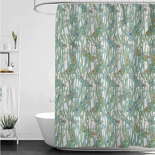 home1love Cortinas para mampara de Ducha, diseño de libélula y ...