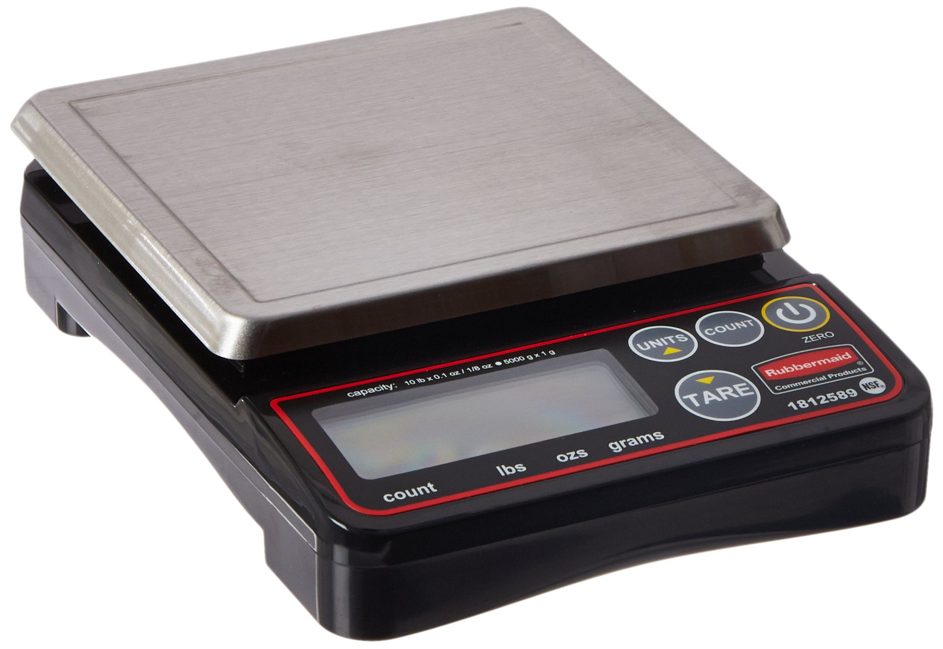 Rubbermaid Commercial Products 1812589 Compact Digital Scale for Foodservice Portion Control, 10 lb by Rubbermaid Commercial Products