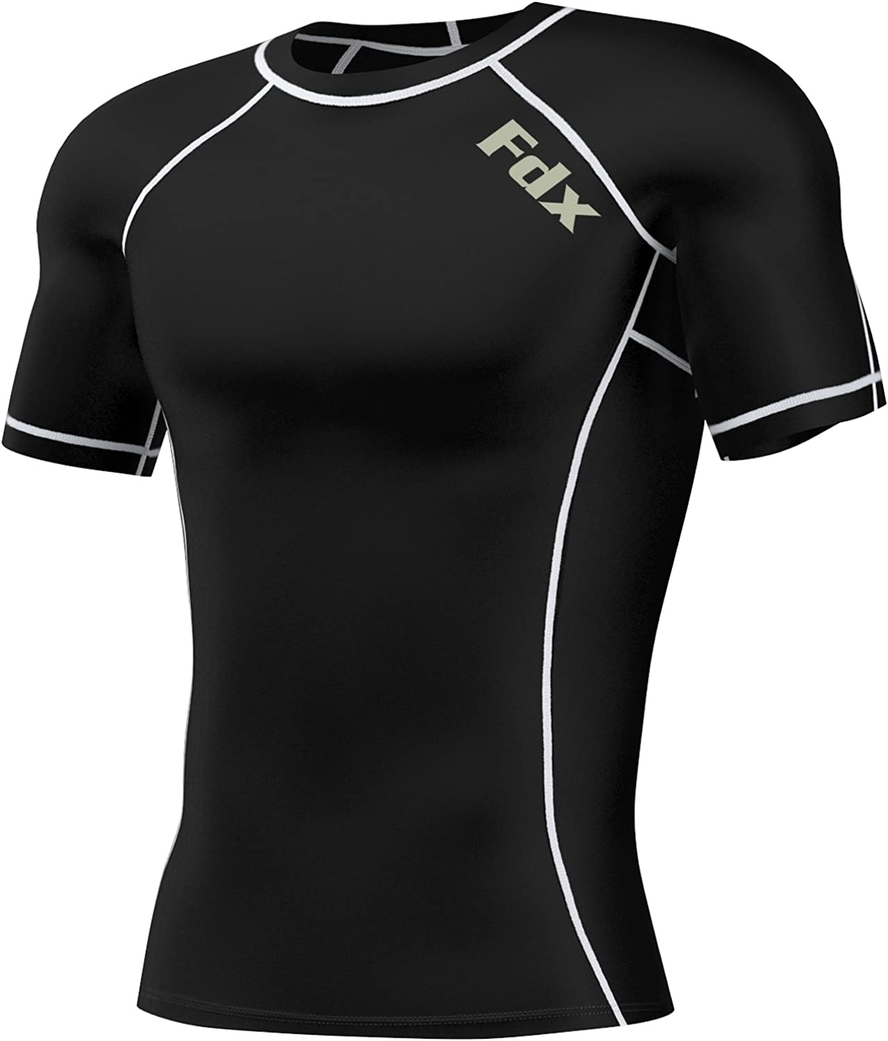 Mens Compression Armour Base Layer Top Long Half Sleeve Thermal Gym Sports Shirt