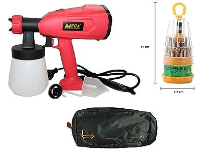 Digitalcraft 350hw Hot Sale 350w Portable Hvlp Hand Held Paint Spray Gun Electric Car Painting Spray Gun Gw8181 Plus Free Multipurpose Pocket Bag