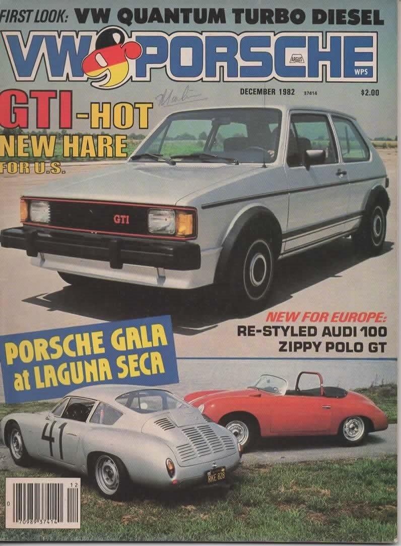 VW & Porsche Magazine, December 1982 (Vol 12, No 6) Single Issue Magazine – 1982