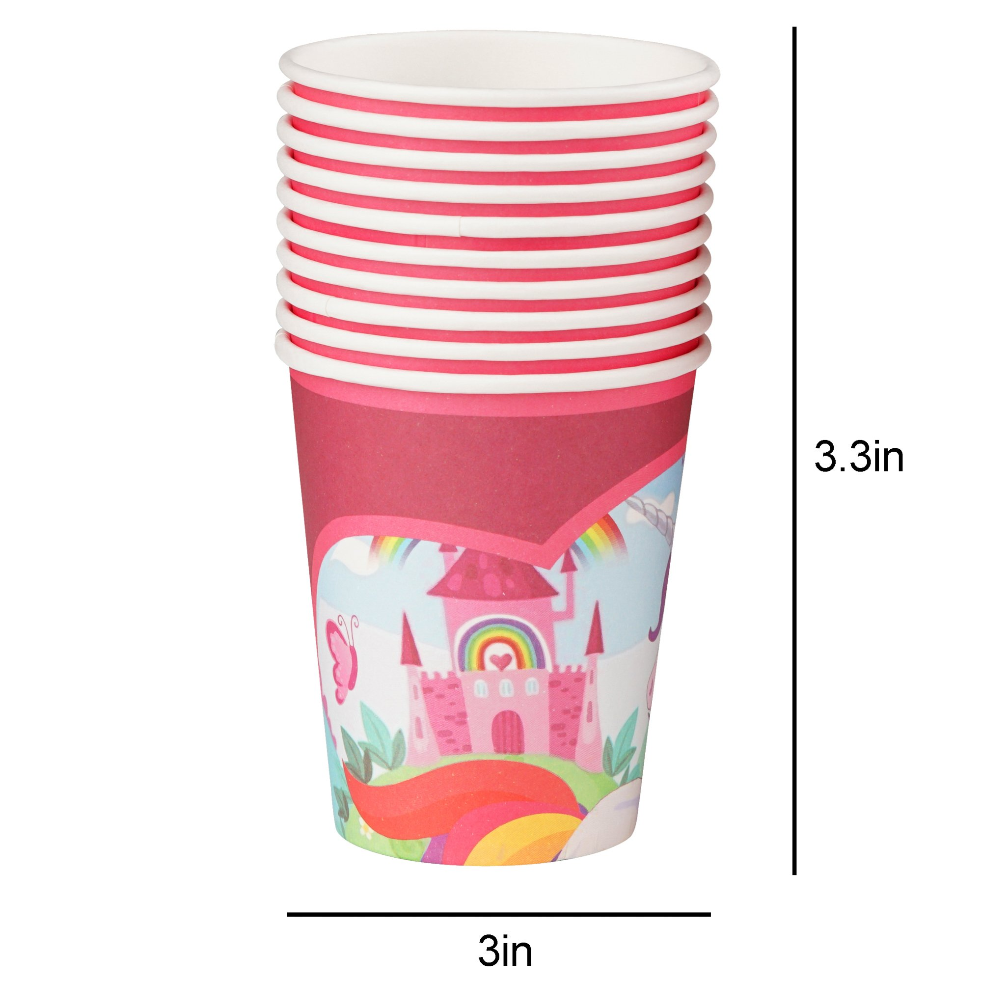82 Piece Unicorn Party Supplies Set Including Banner, Plates, Cups, Napkins and Tablecloth, Serves 20 by Scale Rank (Image #5)