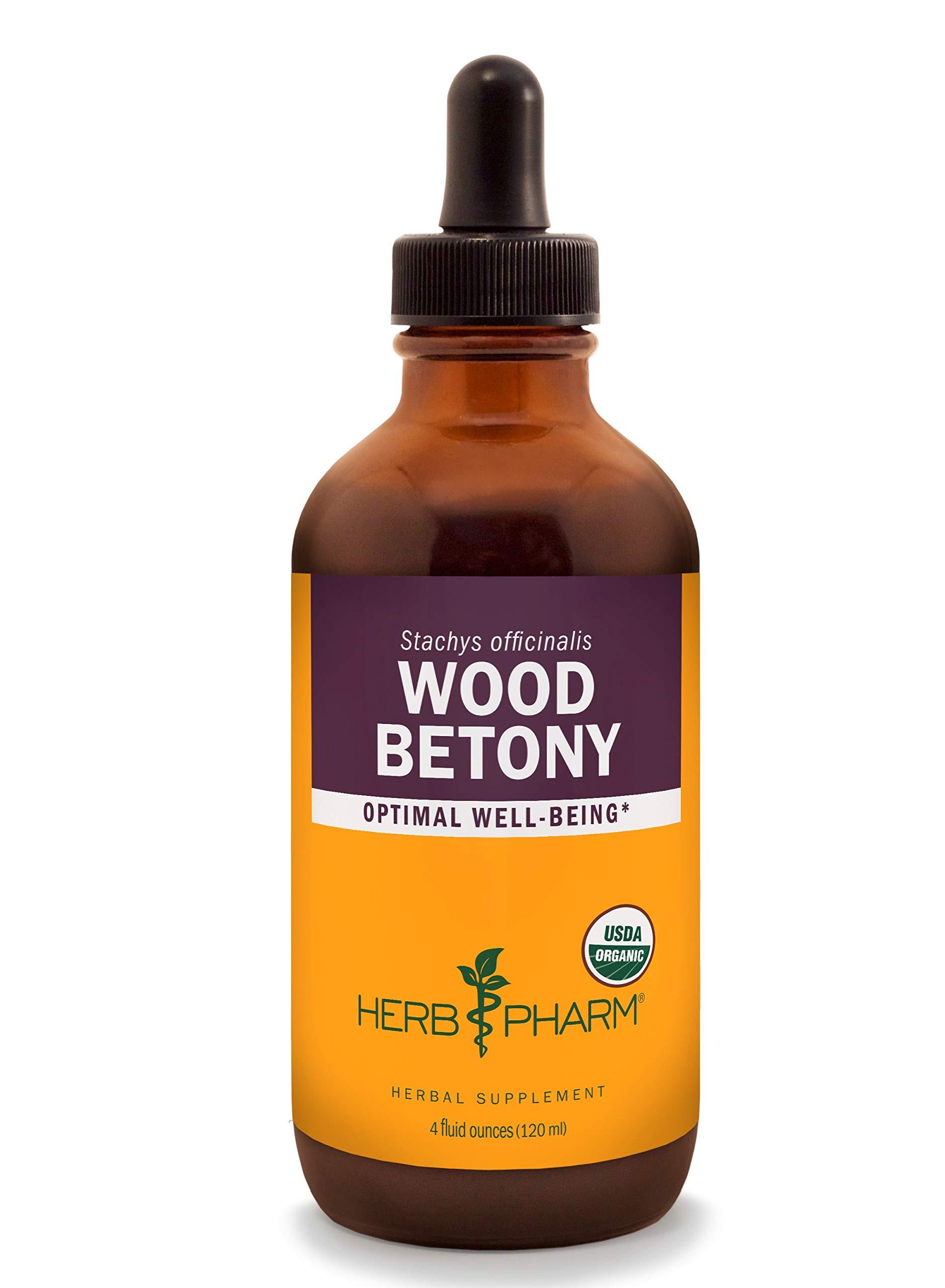Herb Pharm Certified Organic Wood Betony Liquid Extract - 4 Ounce