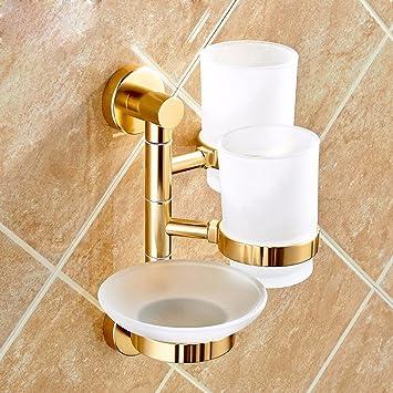 BXSBH-Cepillo de dientes de oro Rack hogar de tres boca lavar traje baño de