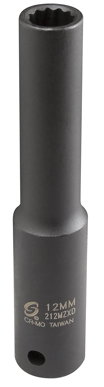 Sunex 212mzxd 1/2-Inch Drive 12-mm 12-Point Extra Deep Impact Socket Sunex International