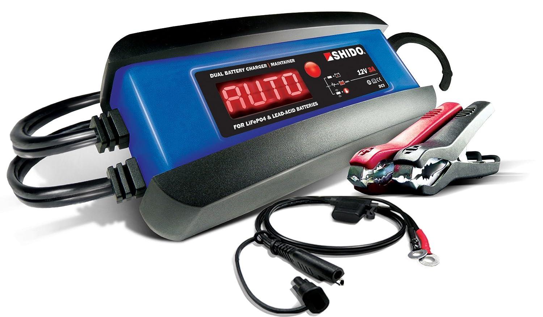 Shido-Batteries DC3 Dual, Blau-Schwarz DC-Afam