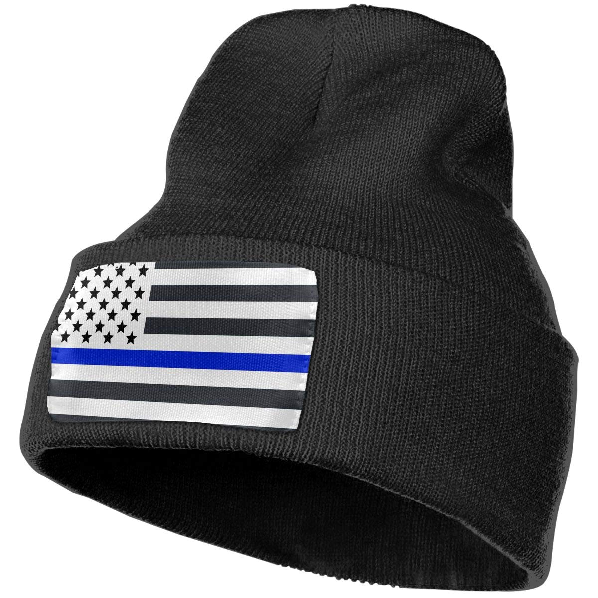 Field Rain Blue Line Unisex 100/% Acrylic Knit Hat Cap Rider Soft Beanie Hat Woolen Hat