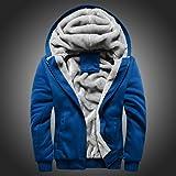 OWMEOT Men's Pullover Winter Jackets Hooed Fleece