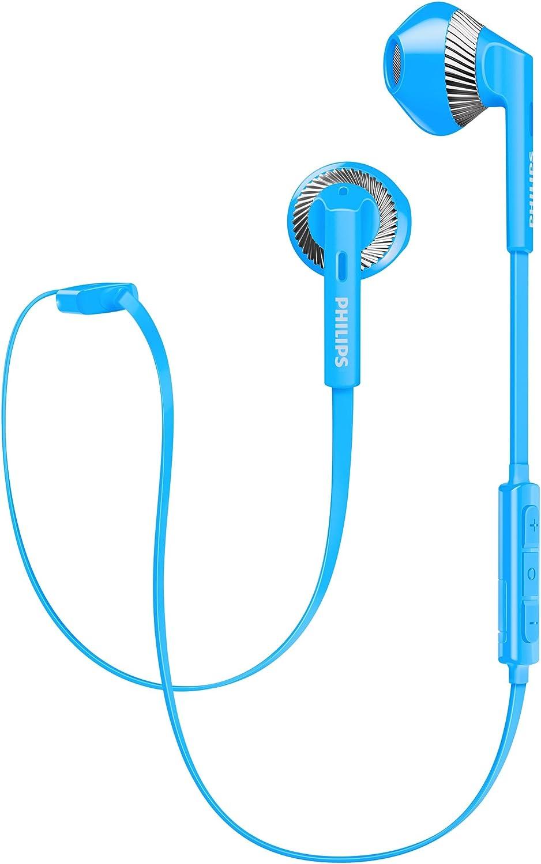 Philips SHB5250BL/00 - Auriculares (Inalámbrico, Dentro de oído, Binaural, Intraaural, 8-24000 Hz, Azul)