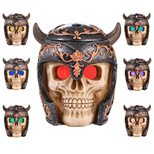 Viking skull essential oil diffuser 350ml capacity home décor humidifier eyes 7 color lights changing multi mist mode aroma diffuser for kids living room Halloween decoration