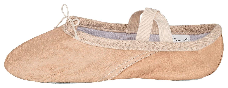Suela Partida tanzmuster Zapatillas de Ballet Cuero Beige//Blanco Piedra//Caramelo