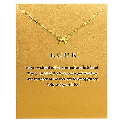 Amazoncom Friendship Heart Shaped Lotus Flower Necklace Bowknot