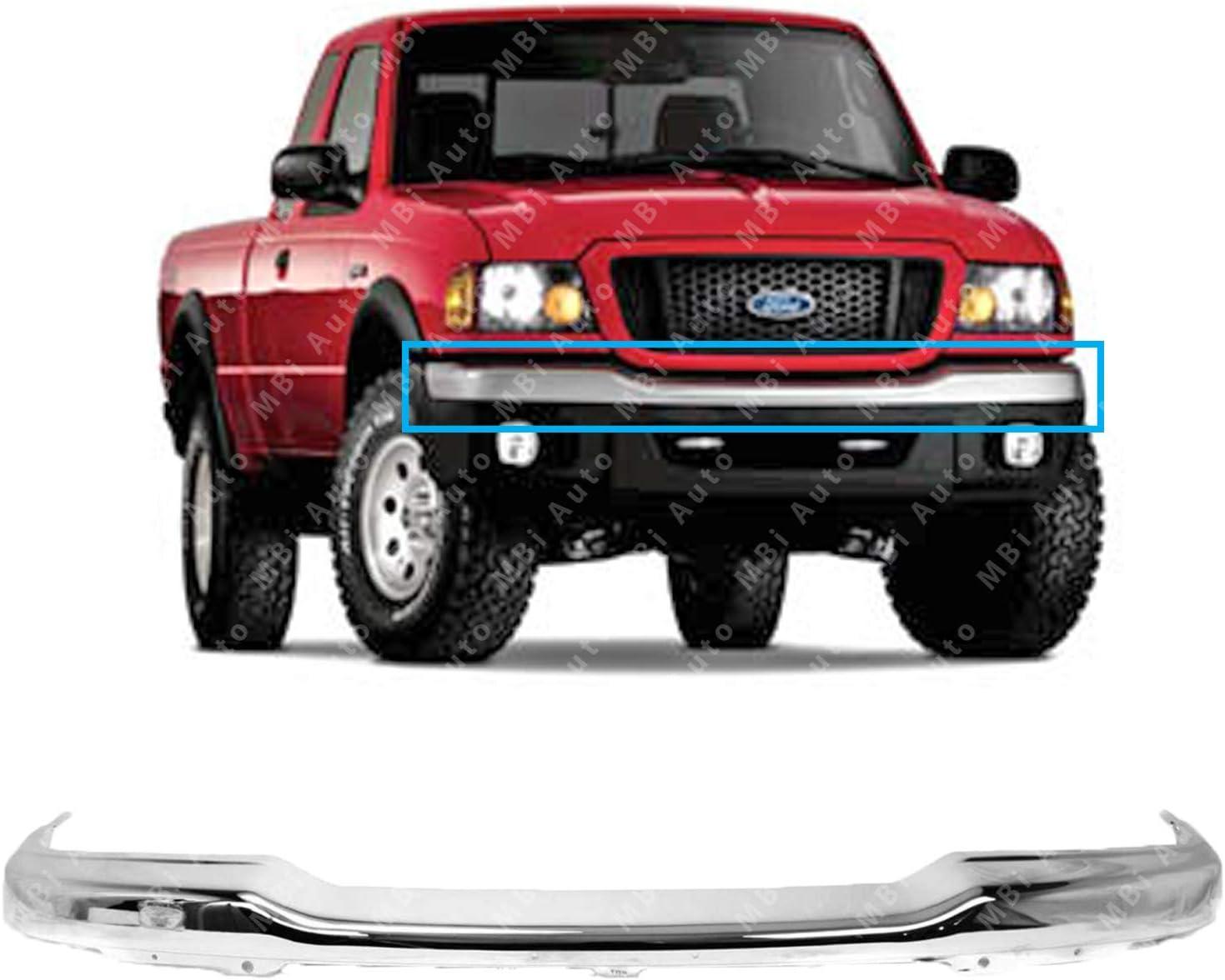 Models Bumper for Ford Ranger 01-05 Front Bumper Chrome XLT 4WD FX4 w//Fog Lights //