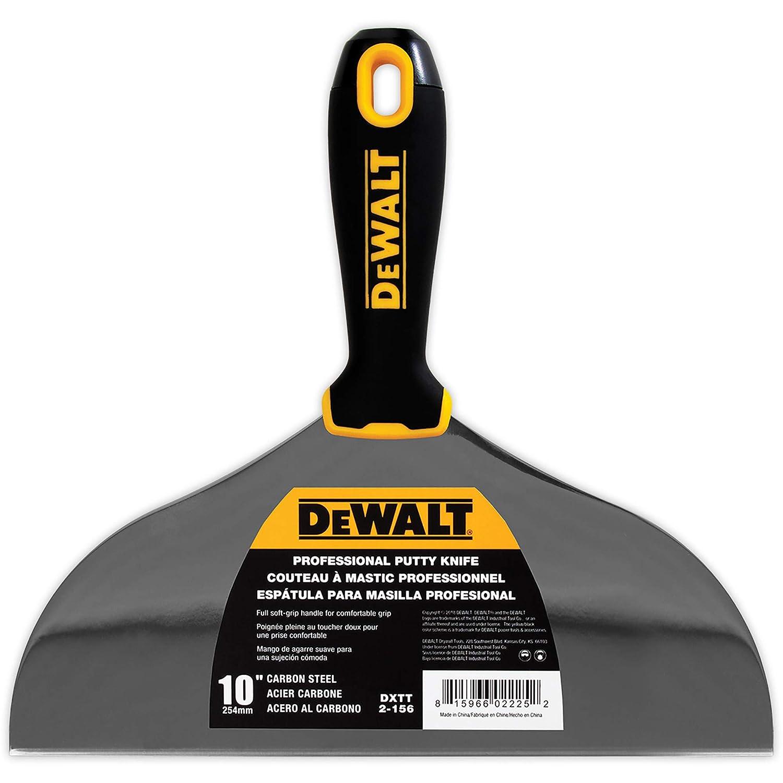 DEWALT 10-Inch Putty Knife   Carbon Steel w/Soft Grip Handle