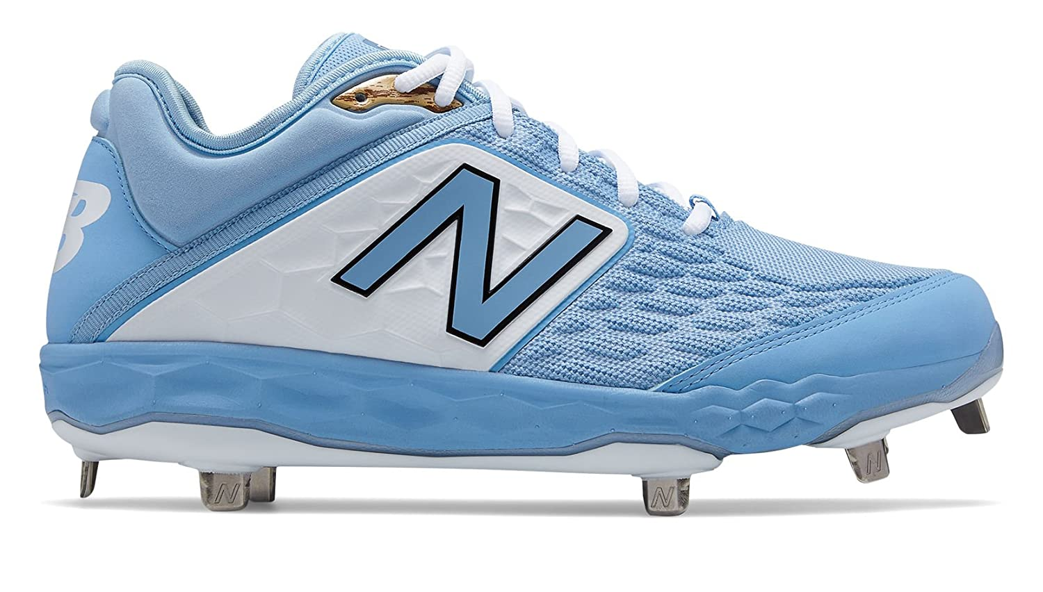 New Balance Men's 3000v4 Metal Baseball Shoe B075R7QH6H 12.5 2E US|Light Blue