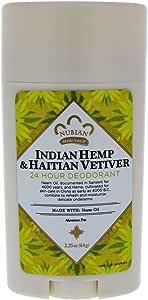 Nubian Heritage Indian Hemp & Haitian Vetiver 24 Hour Deodorant, 64 grams