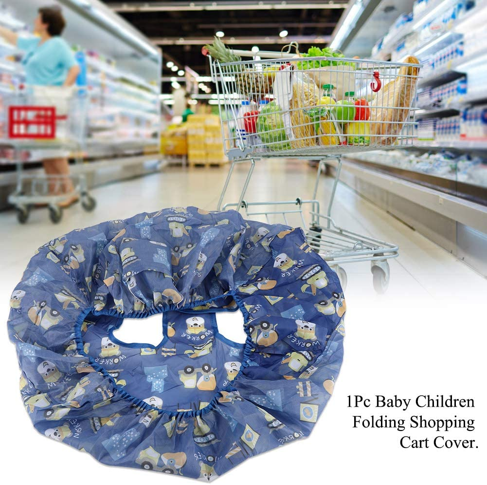 FTVOGUE Baby Shopping Cart Cover Toddler Children Folding Shopping Cart Cover Anti Dirty Kids Trolley Seat Chair Cover 2