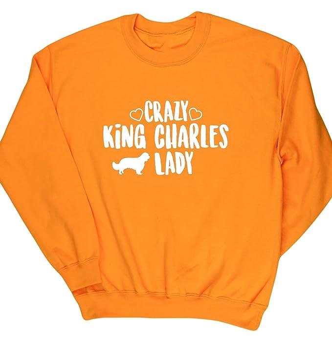 HippoWarehouse Crazy King Charles Lady jersey sudadera suéter derportiva unisex: Amazon.es: Ropa y accesorios