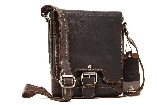 ASHWOOD - 8341 - Bolso bandolera - Apto para iPad y tablet de tamaño A5 - Cuero - Marrón: Amazon.es: Zapatos y complementos