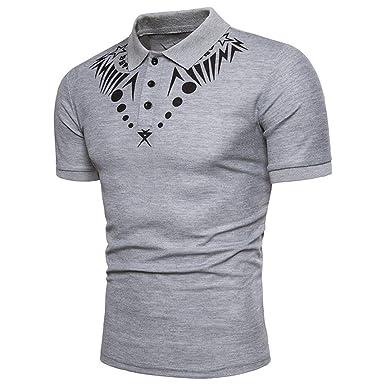 Herren Poloshirt Einfarbig Kanpola T-Shirt Slim-Fit Bedruckte für Anzug,  Business, e0134191fc