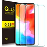 KuGi OnePlus 6T Screen Protector, 9H Hardness HD clear Bubble Free Installation High Responsivity Easy Installation Tempered Glass Screen Protector for OnePlus 6T smartphone. Clear[2 PACK]