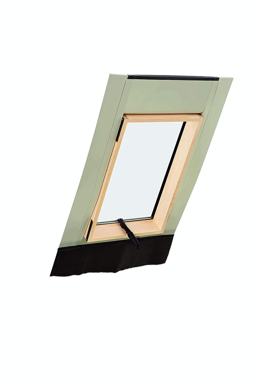 45 x 55 Roto Ausstieg Dachausstiegsfenster WDL R27 H f/ür Kaltdach inklusive Eindeckrahmen