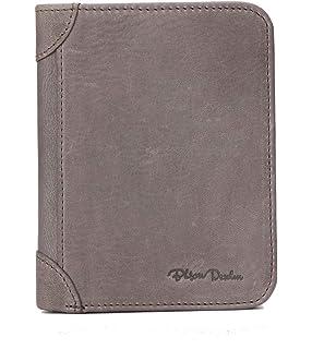 5ffe204820ea8 BISON DENIM RFID Blocking Bifold Wallet Front Pocket Genuine Leather Wallets  Thin Credit Card Holder for