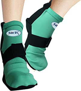 Foot Doctor Hot and Cold Pain Relieving Gel Socks - Best for Achilles Tendon Injuries, Plantar Fasciitis, Bursitis & Sore Feet - Microwaveable, Freezable and Reusable