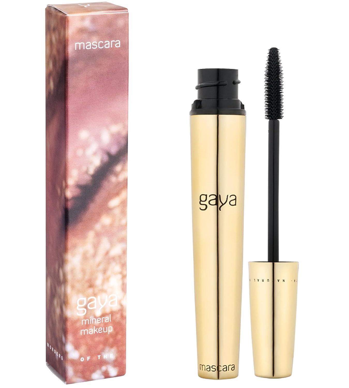 Gaya Cosmetics Vegan Wimperntusche Mascara für Empfindliche Augen, mit Verlängerung & Volumen Effekt, Intensive Lange Natürliche Wimpern