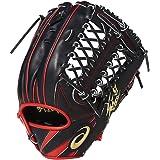 asics(アシックス) 硬式 野球 グローブ 外野手 右投げ LH 一般 BGH7SS サイズ12 ブラック/レッド 2017年モデル