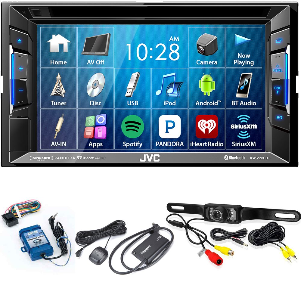 JVC KW-V230BT BT/DVD/CD/USB Receiver with 6.2 with Sirius XM Tuner, Back Up Camera and Steering Wheel Controls