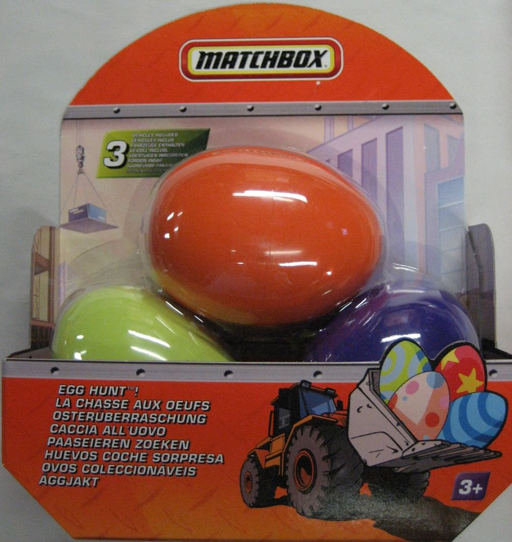 Amazon matchbox egg hunt includes 3 mystery vehicles in amazon matchbox egg hunt includes 3 mystery vehicles in plastic eggs toys games negle Images
