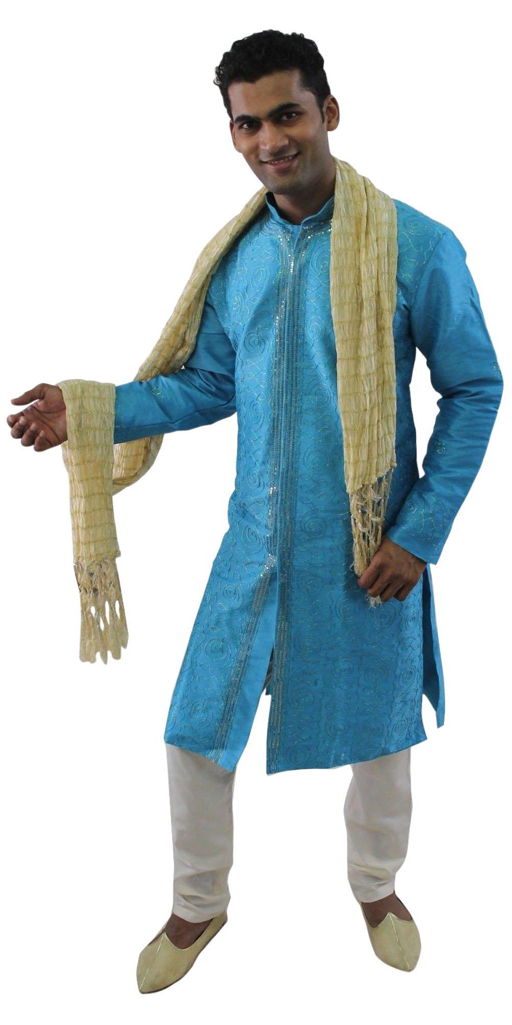 Apparelsonline Mens Sherwani set Indian Wedding Party Wear (Medium)