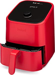 Instant Vortex Air Fryer Oven, 4-in-1 Oil-Less Cooker, Roaster, Toaster, Crisper, Dehydrator, Warmer, 2-Quart, Red