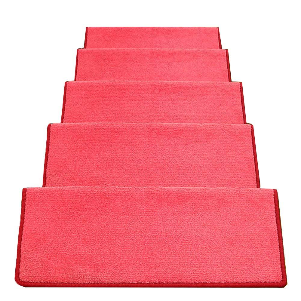 カーペット, 階段カーペットノンスリップ自己接着階段マット、長方形ラグランナスイカレッド、1ピース、5ピース、10ピース (色 : 10 pieces, サイズ さいず : 24x75x3cm) 24x75x3cm 10 pieces B07LD795FT