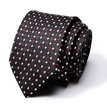 Zjuki Corbata Polka Dot Rayas Corbatas para Hombre Traje de ...