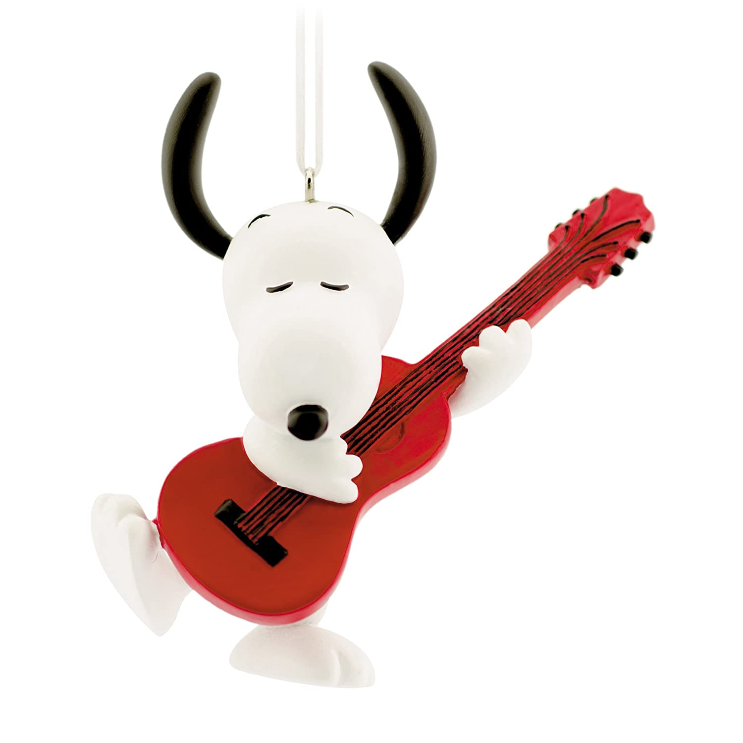 Amazoncom Hallmark Peanuts Snoopy with Guitar Christmas Ornament