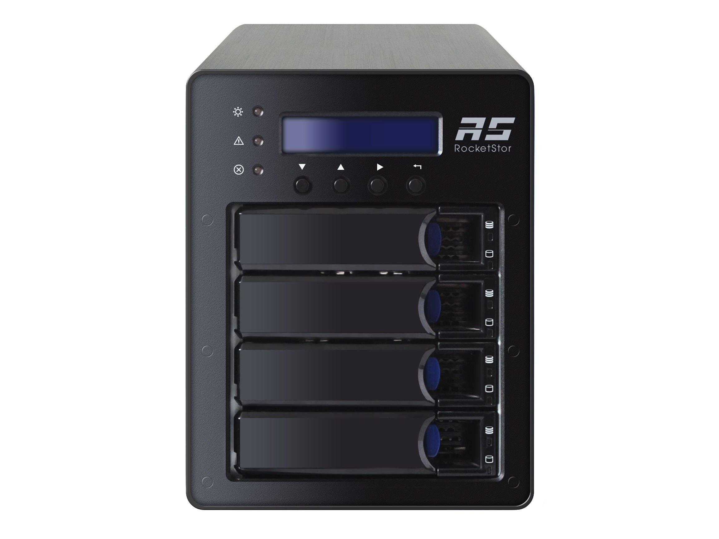 Highpoint RocketStor 6124V 4-Bay USB 3.1 10Gb/s Gen2 RAID Storage Enclosure