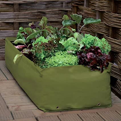 Fiori Verdure 75 x 75 x 25 cm Erbe com-four/® Borsa per la Crescita delle Piante Mini Letto Ideale per Balcone e terrazza Borsa per Piante