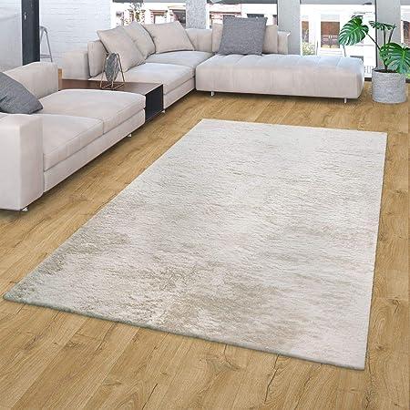 TT Home Alfombra De Pelo Largo para Salón, Lavable, Shaggy Suave, En Beige Crema, Größe:60x90 cm: Amazon.es: Hogar
